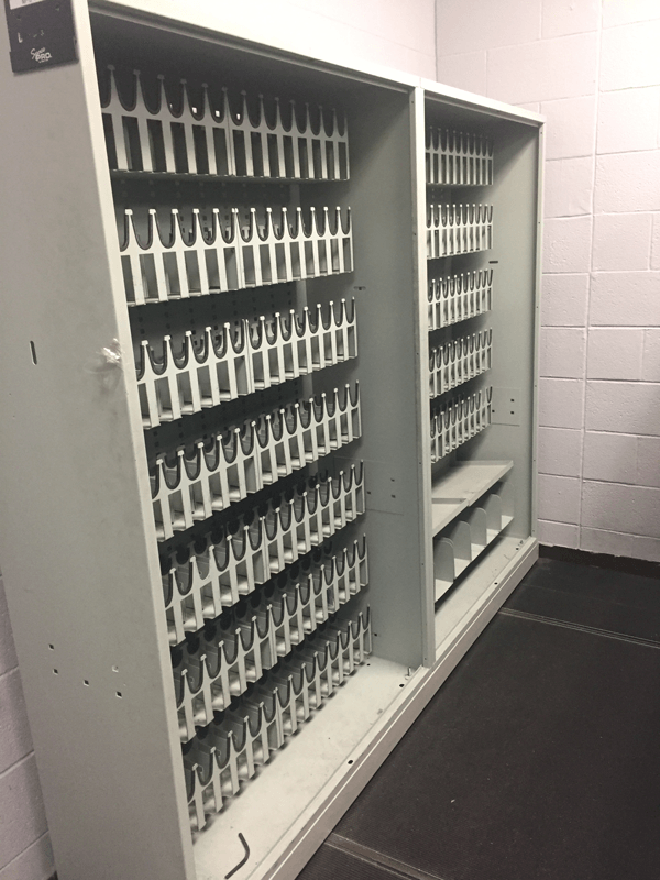 Upgrade to better weapon storage