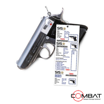 RFID V Barcode Weapon Tracking - Weapon Inventory Tags - Weapon Maintenance Paper Tags