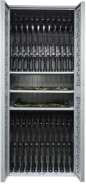 Combat Weapon Rack - Weapon Storage with Optics Attached - NVG