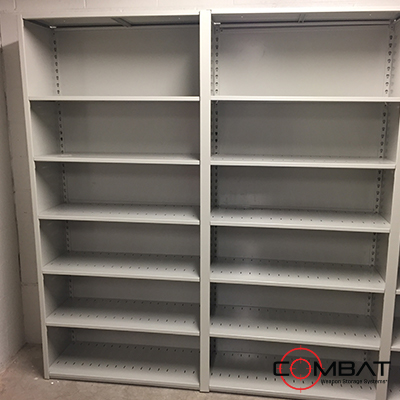 Steel Shelving for Armories and Military Bases